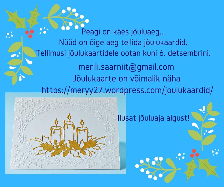f0d7ba26bb3 Jõulukaartide tellimus, kaardid, jõulud, käsitöö, käsitöökaardid jõuluks